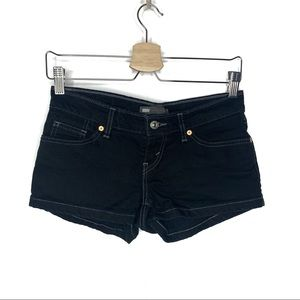 Levi's Black Denim Jean Shorts